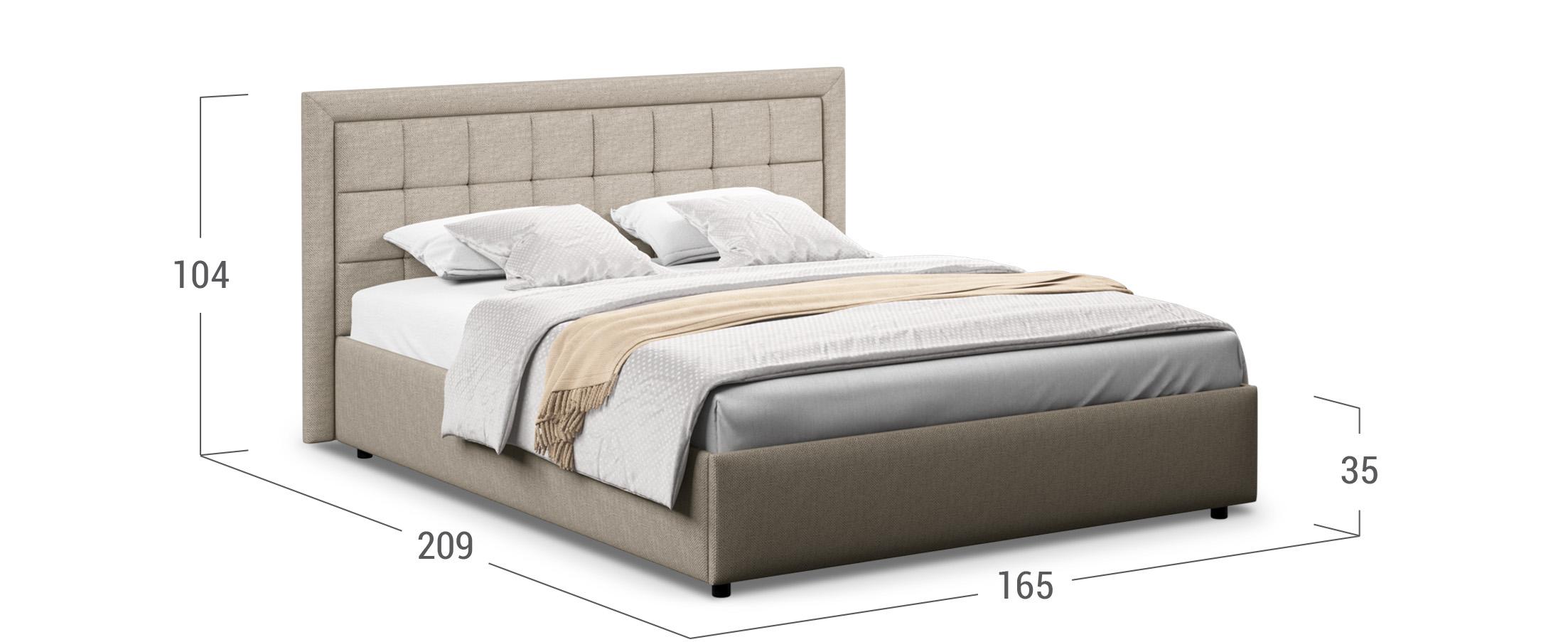 Кровать двуспальная Ноэми 140х200 Модель 1202