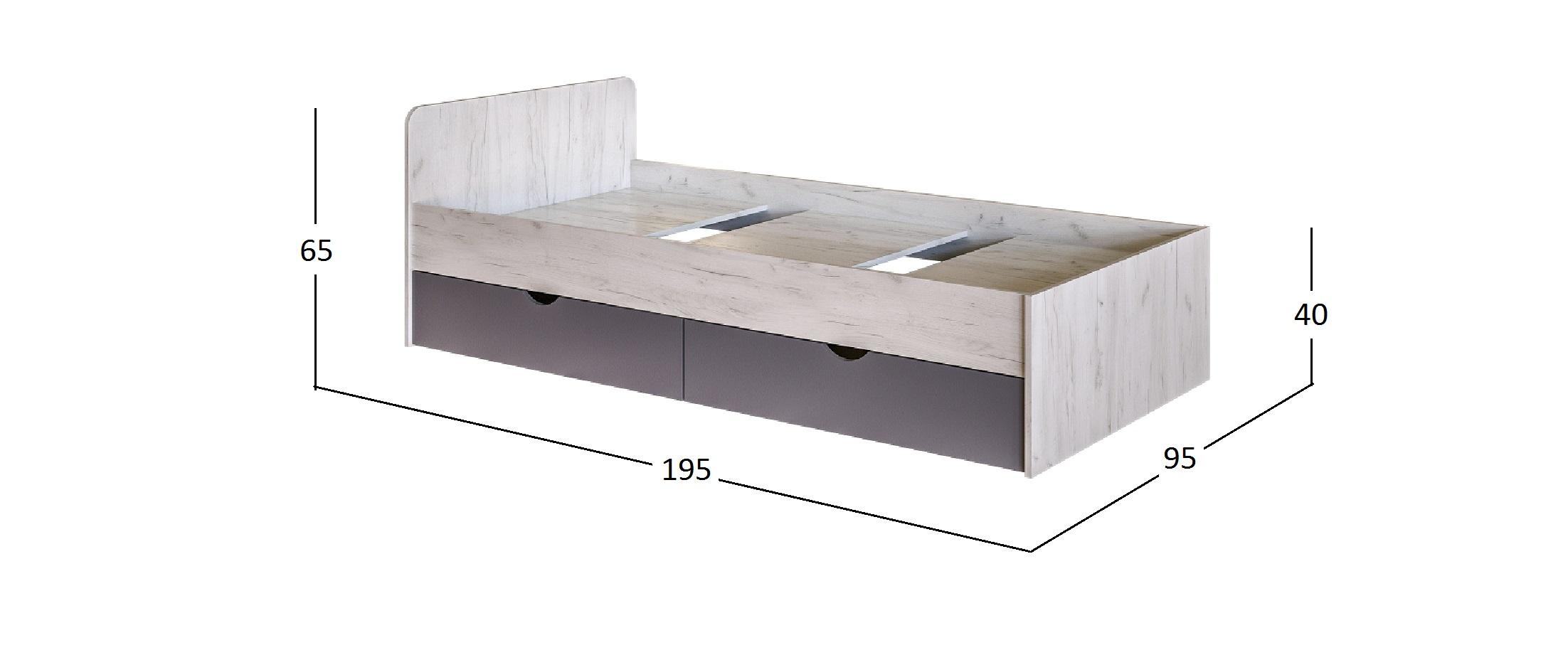 Кровать 900х1900 Крафт c настилом Модель 502
